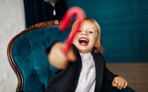 Candy cane kid