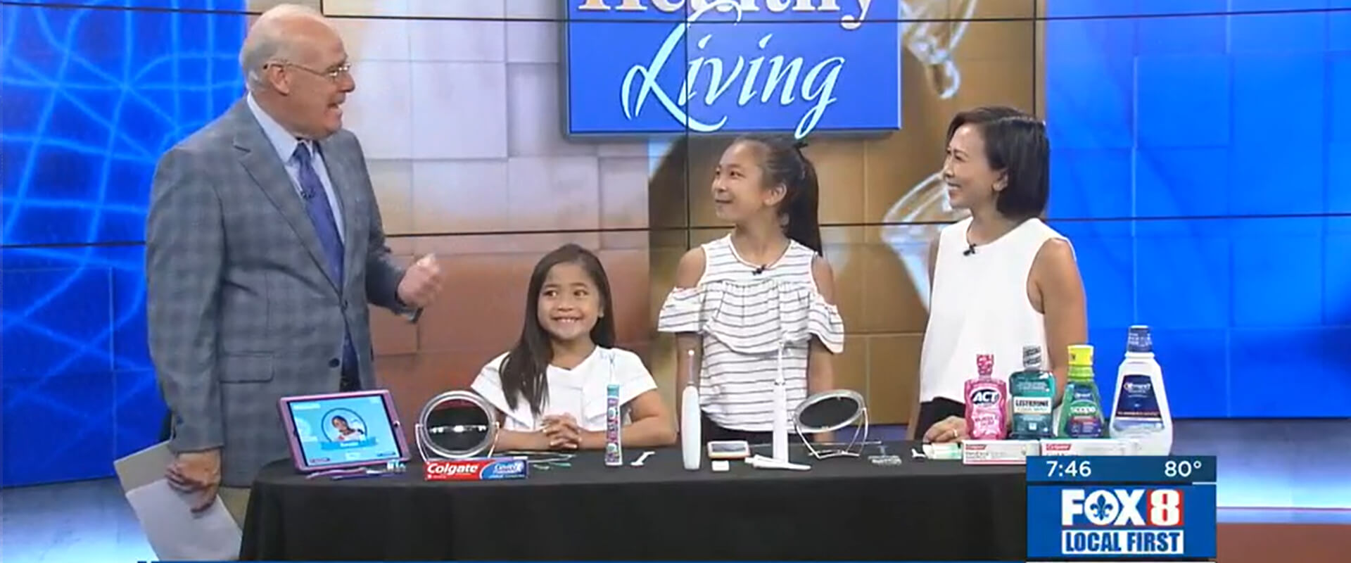 Dr. Diem Do and kids presenting in news